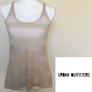Staring At Stars Beige Crochet Tank Top